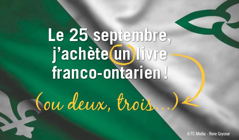 Le 25 septembre, j'achete un livre franco-ontarien