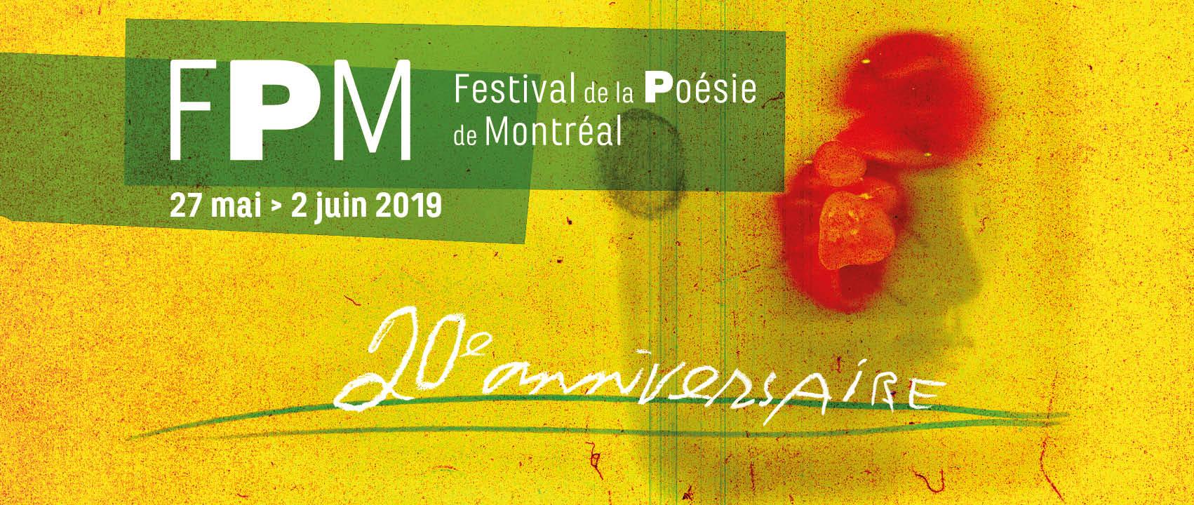 Festival de la poésie de Montréal 2019