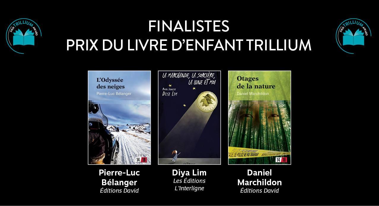 Finalistes Prix du livre d'enfant Trillium 2019