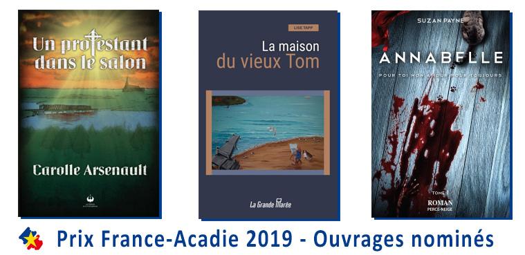 Prix France-Acadie 2019_ouvrages nominés