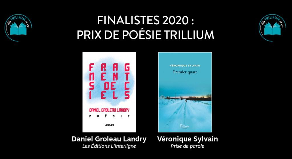 Finalistes Poesie Trillium 2020