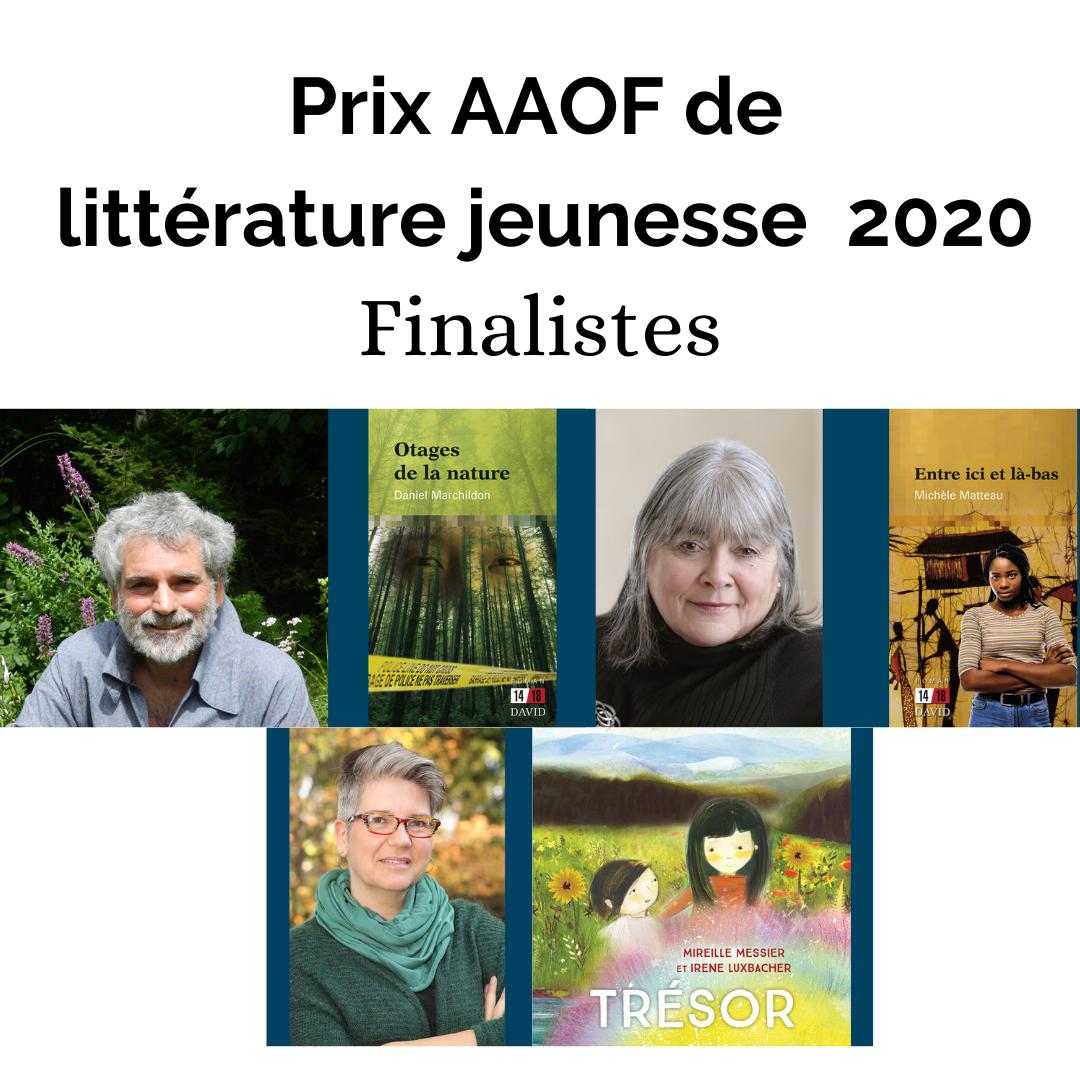 Finalistes Prix AAOF