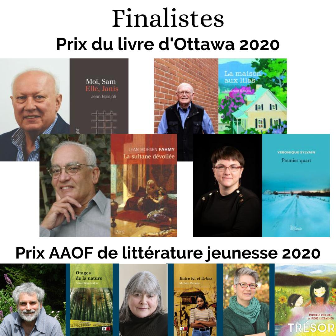 Finalistes Prix Ottawa et Prix AAOF 2020