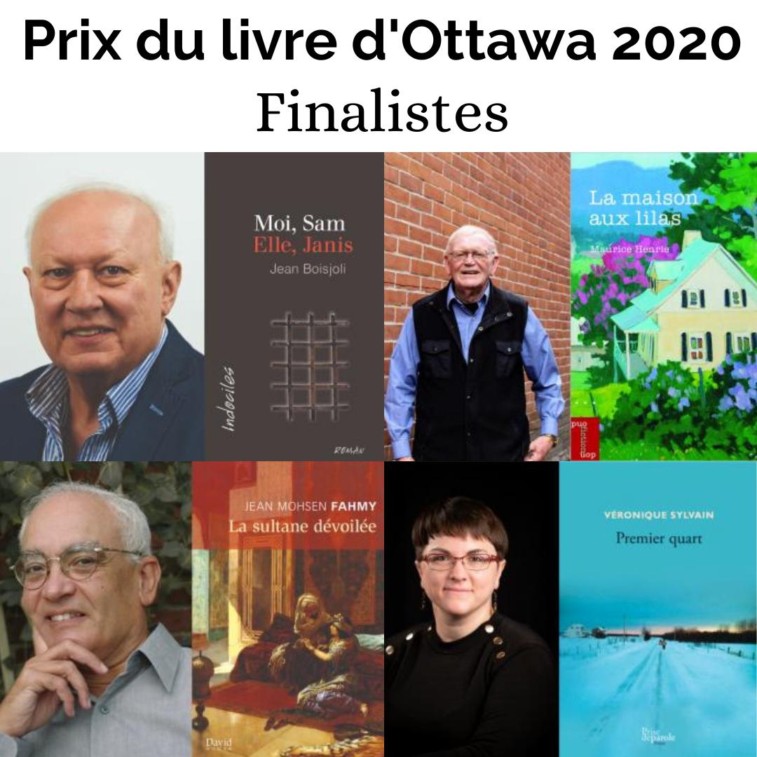 Finalistes - Prix du livre Ottawa 2020