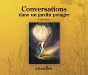 Conversations dans un jardin potager