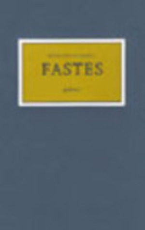 Fastes - éd. de tête (limitée et numérotée ; impression typographique)