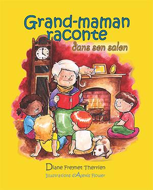 Grand-maman raconte dans son salon